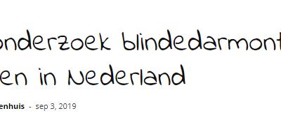 Kind & Ziekenhuis: Update onderzoek blindedarmontsteking bij kinderen in Nederland