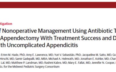 Recente publicatie – non-operatieve behandeling simpele appendicitis